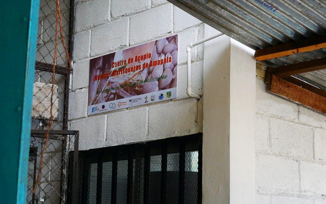 Inaugurado el Centro de acopio de mariscos de 4 empresas de servicios múltiples de mujeres marisqueras de Amapala