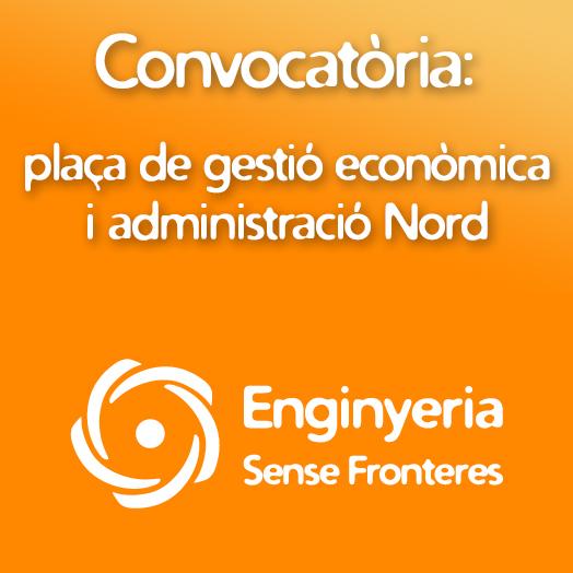 Convocatòria: tècnic/a de gestió econòmica i administració de projectes Nord