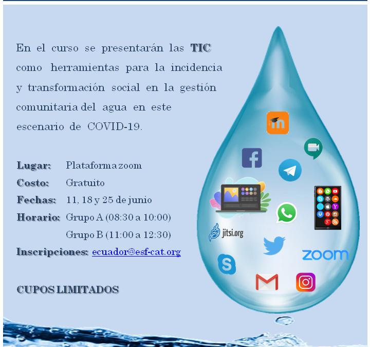 CURSO INTRODUCTORIO Tecnologías de la Información y Comunicación y Gestión Comunitaria del agua