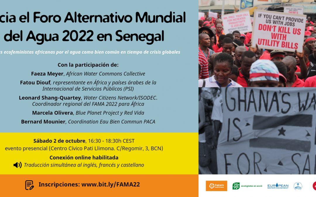Hacia el Foro Alternativo Mundial del Agua 2022 en Senegal