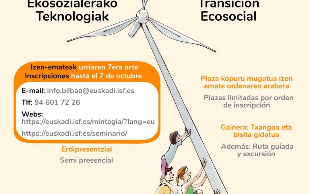 XXII Seminario sobre Desarrollo, Cooperación y Tecnologías para la Transición Ecosocial